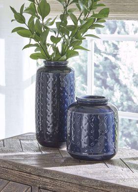 Picture of Marenda Navy 2PC Vase Set