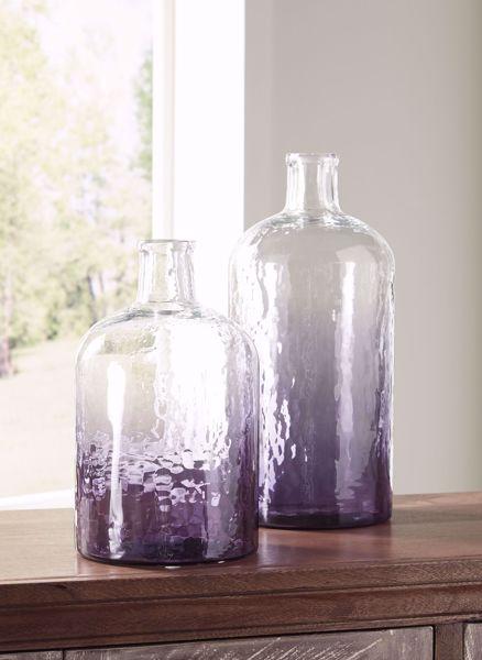 Picture of Maleah Purple 2PC Vase Set