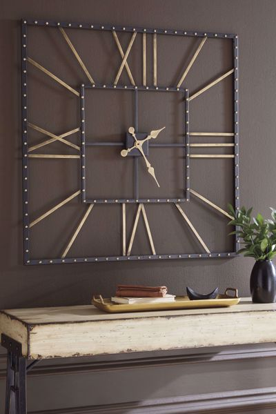 Picture of Thames Black/Gold Wall Clock