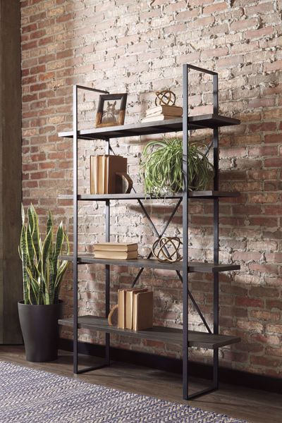 Picture of Gilesgrove Black/Gray Bookcase