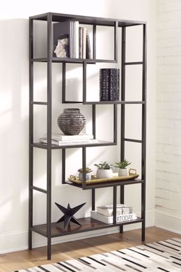 Picture of Frankwell Brown/Black Bookcase