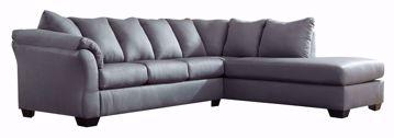 Remarkable Darcy Steel Sofa Chaise Kimbrells Furniture Inzonedesignstudio Interior Chair Design Inzonedesignstudiocom