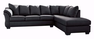 Picture of Darcy - Black LAF 2PC Sectional