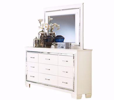 Picture of Allura - White Dresser & Mirror