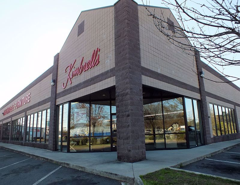 Entrance to Kimbrells Furniture in Charlotte, NC Wilkinson Blvd
