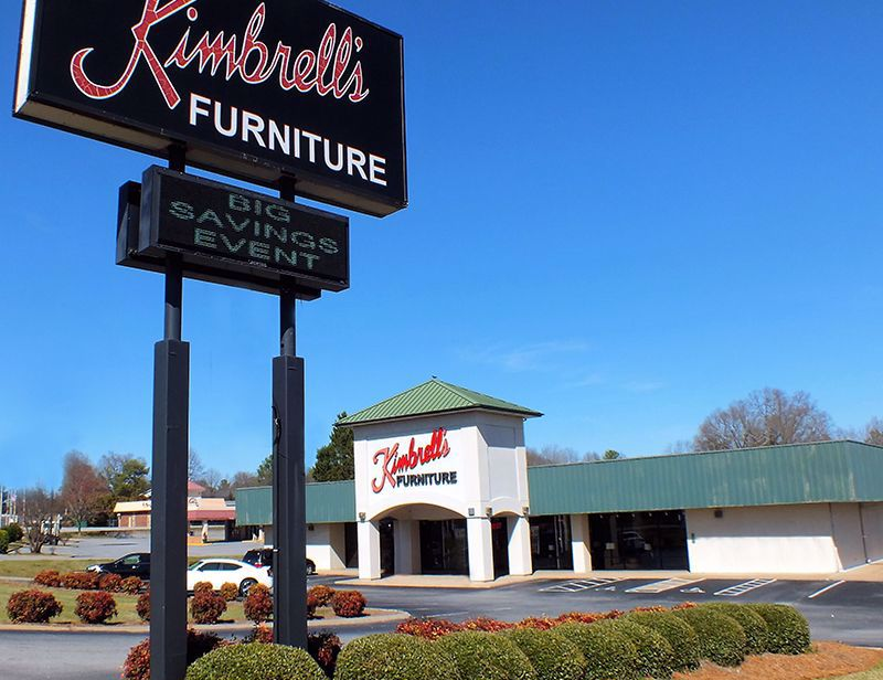 Entrance to Kimbrells in Gaffney, SC