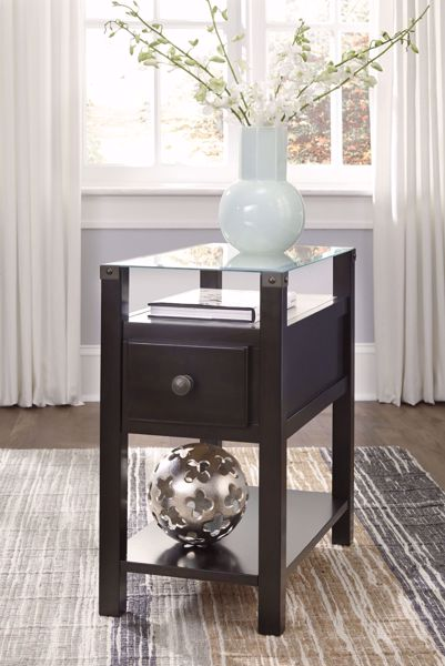 Picture of Diamenton - Black Chairside Table