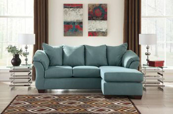 Picture of Darcy - Sky Sofa Chaise