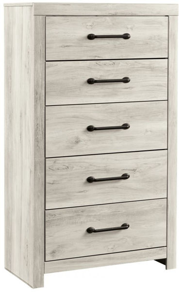 Picture of Cambeck - White Five Drawer Chest