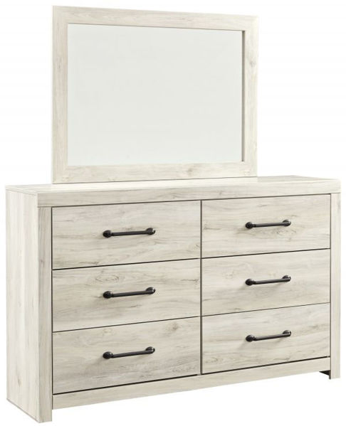 Picture of Cambeck - White Dresser & Mirror