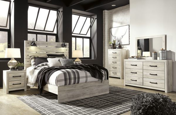 Picture of Cambeck - White Queen Panel Bed