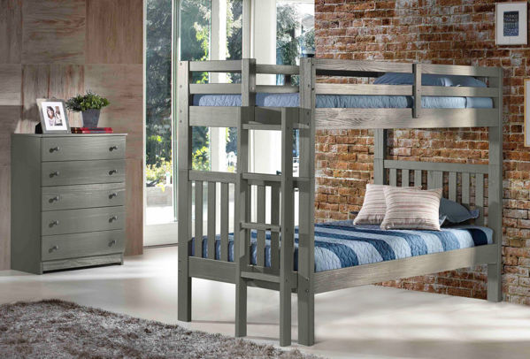Picture of Cambridge - Gray Twin/Twin Bunk Bed