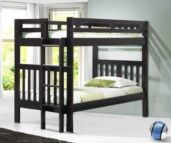 Picture of Naples - Espresso Twin/Twin Bunk Bed