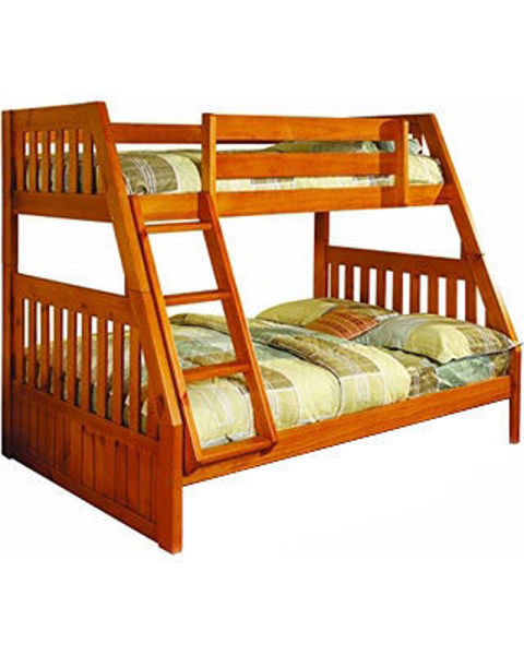 Honey Twin Full Bunk Bed Kimbrell S Furniture