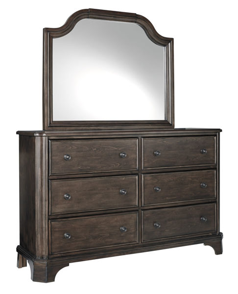Picture of Adinton - Brown Dresser & Mirror