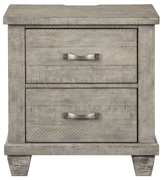 Picture of Naydell Gray 2 Drawer Nightstand