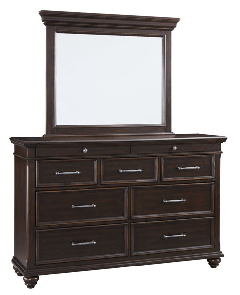 Picture of Brynhurst - Brown Dresser & MIrror