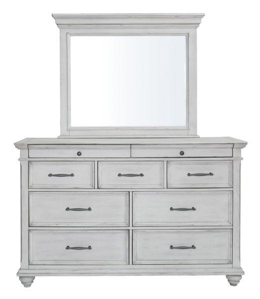 Picture of Kanwyn - White Dresser & Mirror