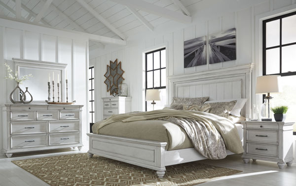 Picture of Kanwyn - White Qn Panel Bed