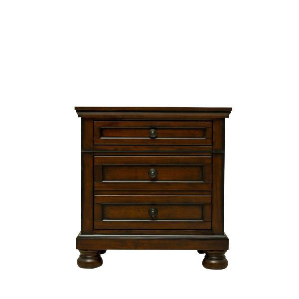 Picture of Begonia - Cherry 3 Drawer Nightstand