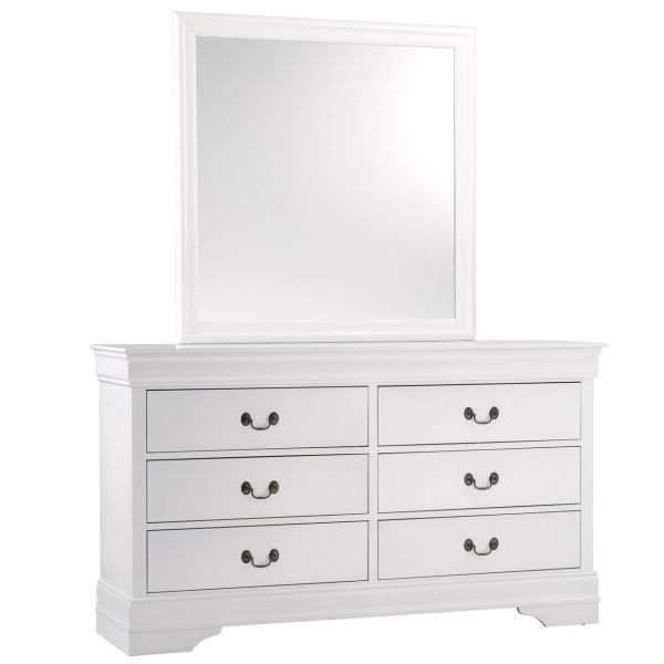 Picture of MAYVILLE WHITE DRESSER/MIRROR