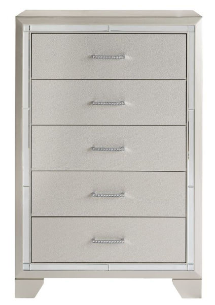 Picture of Lonnix - Silver 5 Drawer Chest