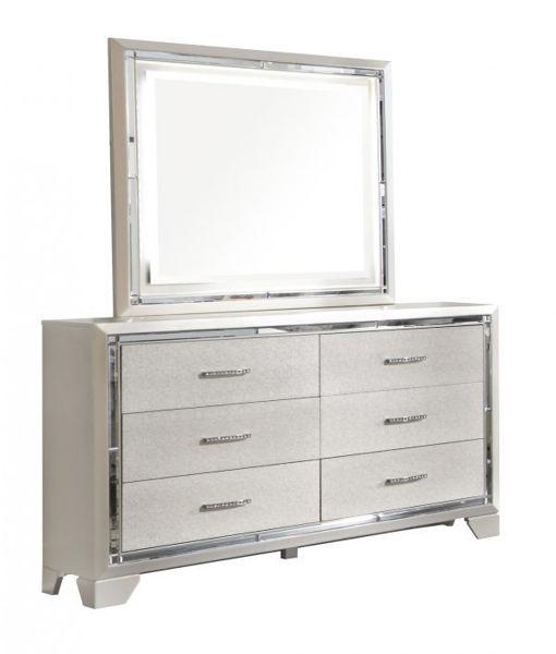 Picture of Lonnix - Silver Dresser & Mirror
